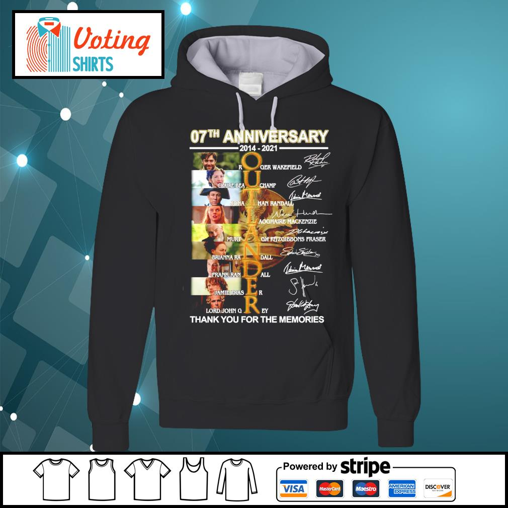 07th anniversary 2014 2021 Outlander thank you for the memories signatures hoodie