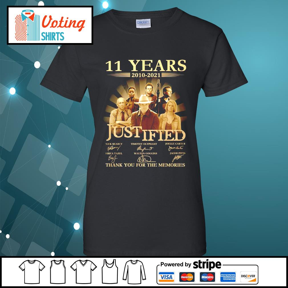 11 years 2010 2021 Justified thank you for the memories ladies-tee