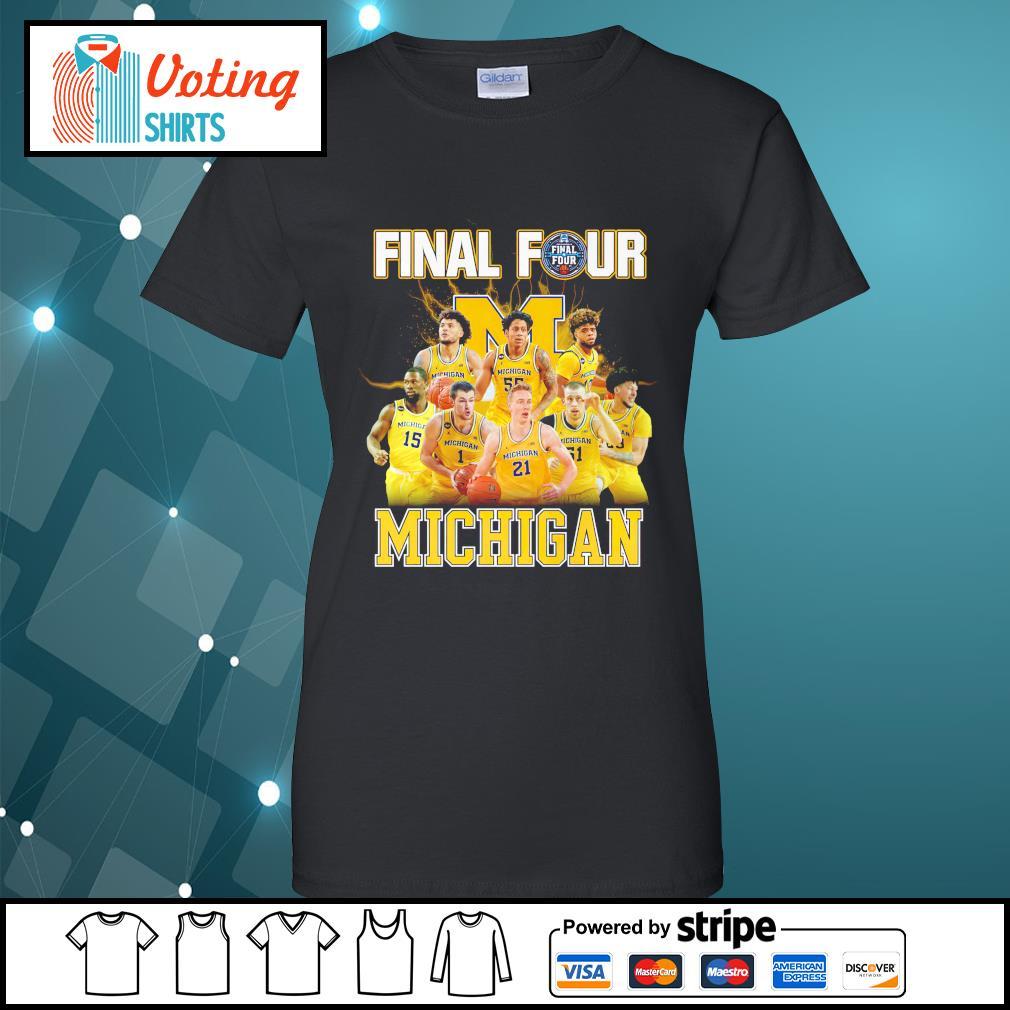 2021 Men's Basketball Final Four Michigan ladies-tee