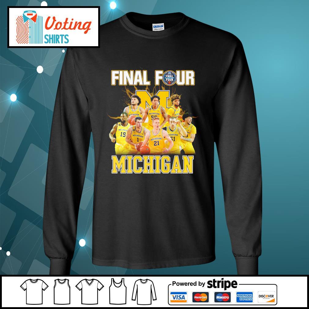 2021 Men's Basketball Final Four Michigan longsleeve-tee