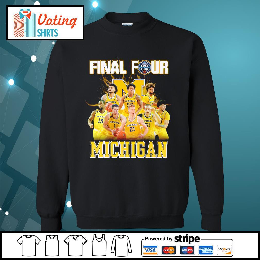 2021 Men's Basketball Final Four Michigan sweater