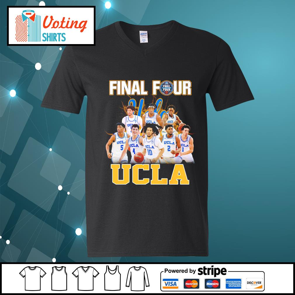 2021 Men's Basketball Final Four UCLA v-neck-t-shirt