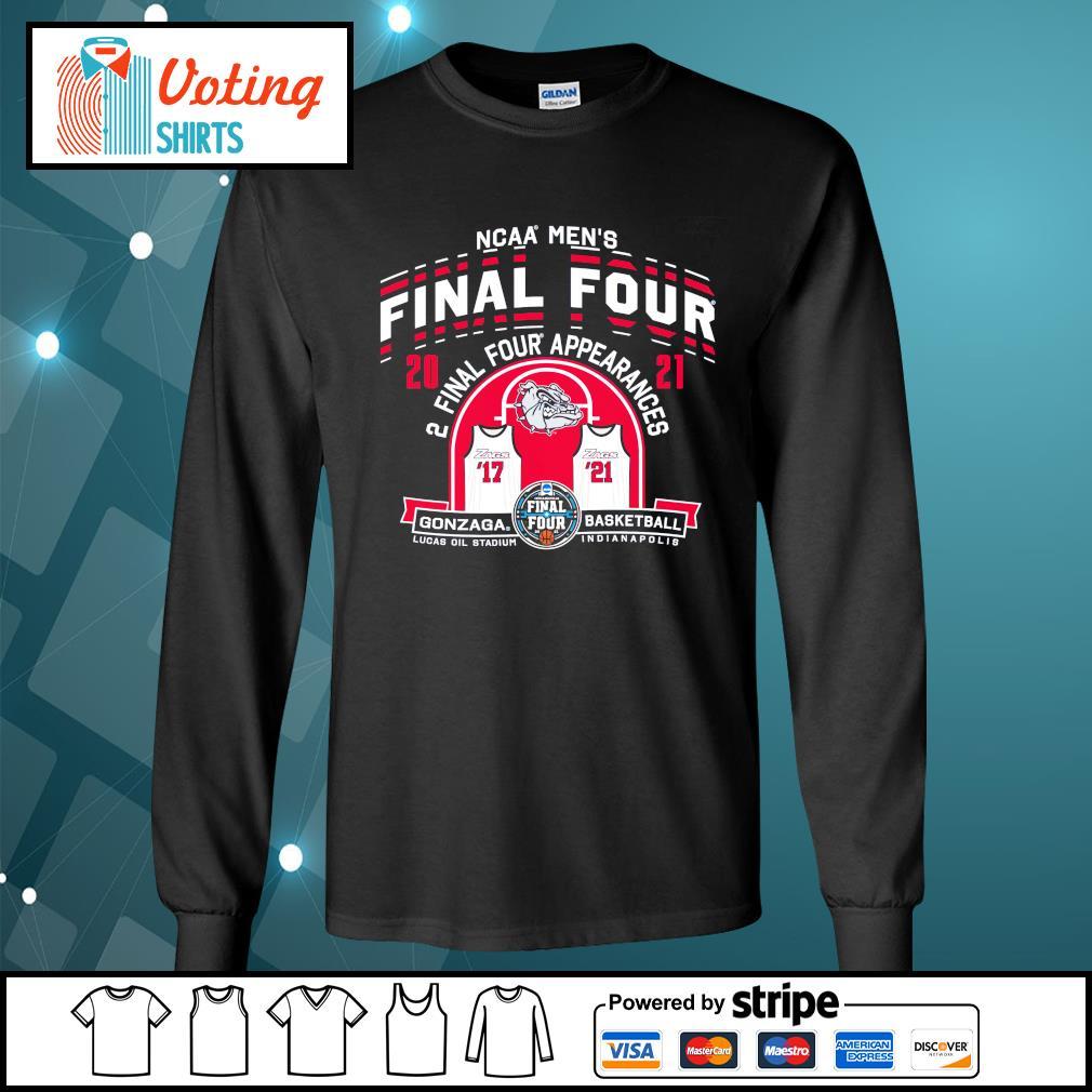 2021 NCAA Men's Basketball Tournament March Madness Final Four Gonzaga Basketball longsleeve-tee