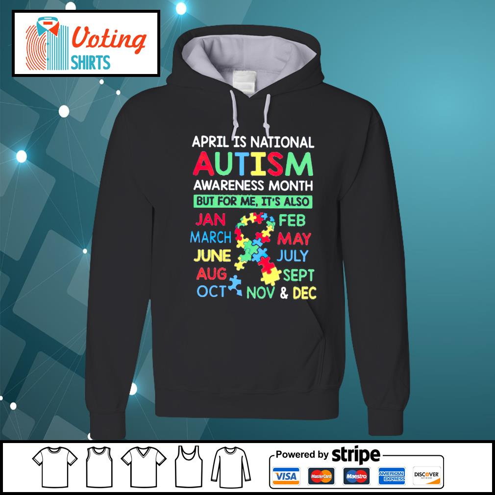April is national Autism awareness month hoodie