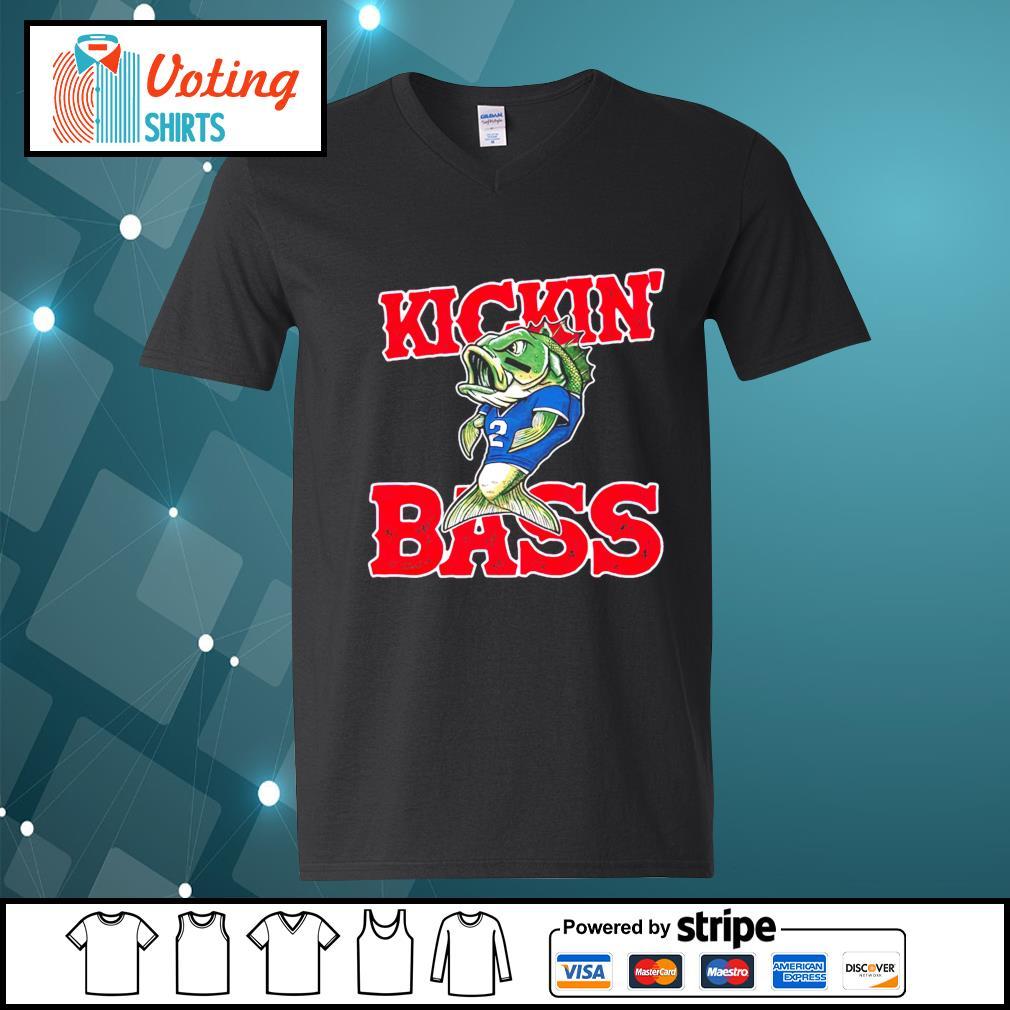 Buffalo Kickin' Bass v-neck-t-shirt