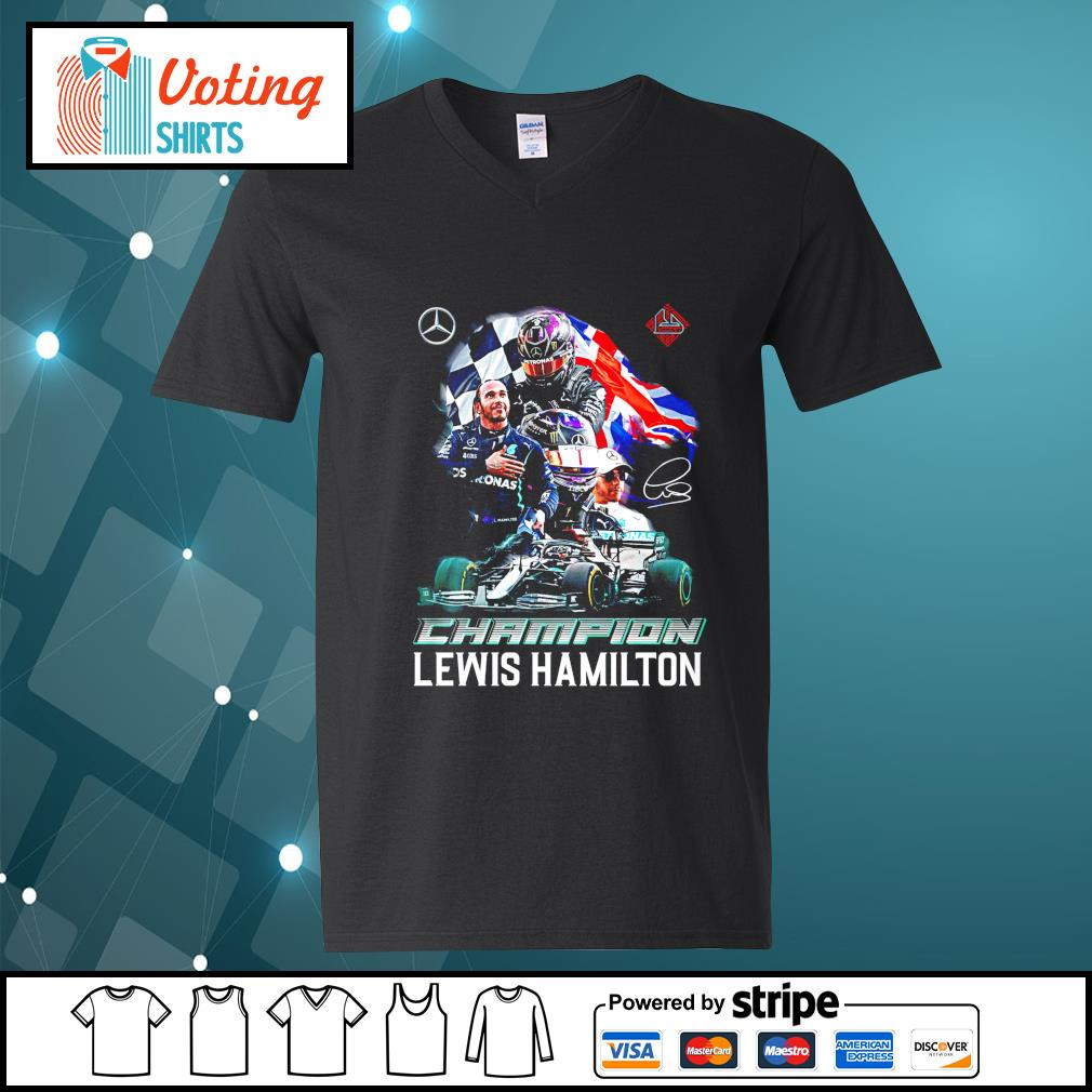 Champion Lewis Hamilton signature v-neck-t-shirt
