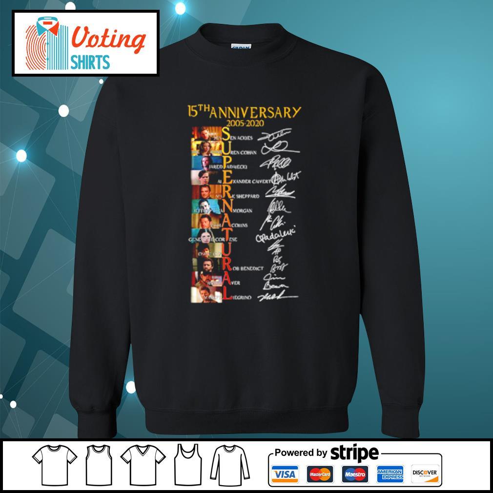 15th Anniversary 2005 2020 Supernatural Jensen Ackles Lauren Cohan Signatures Shirt sweater