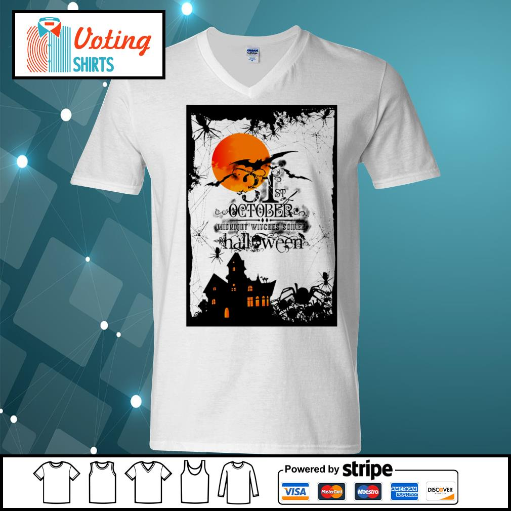 31st October midnight witches soiree Halloween s v-neck-t-shirt