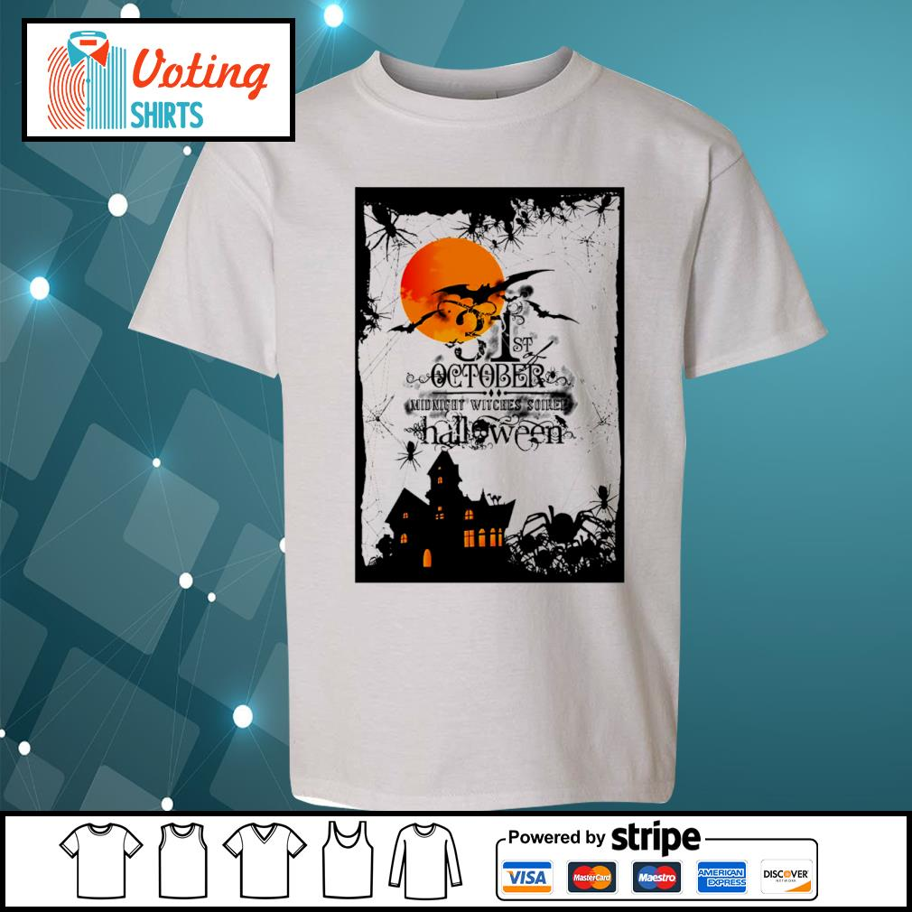 31st October midnight witches soiree Halloween s youth-tee