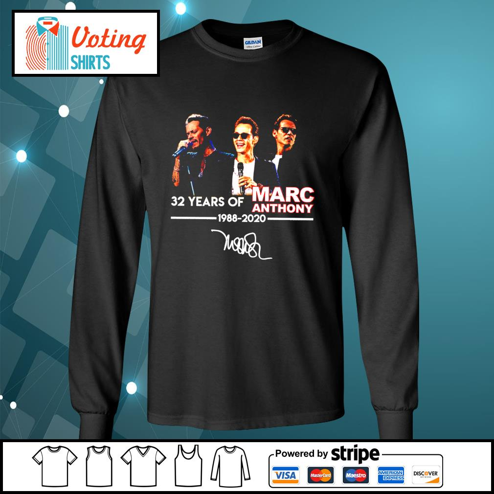32 years of Marc Anthony 1988 2020 signatures s longsleeve-tee