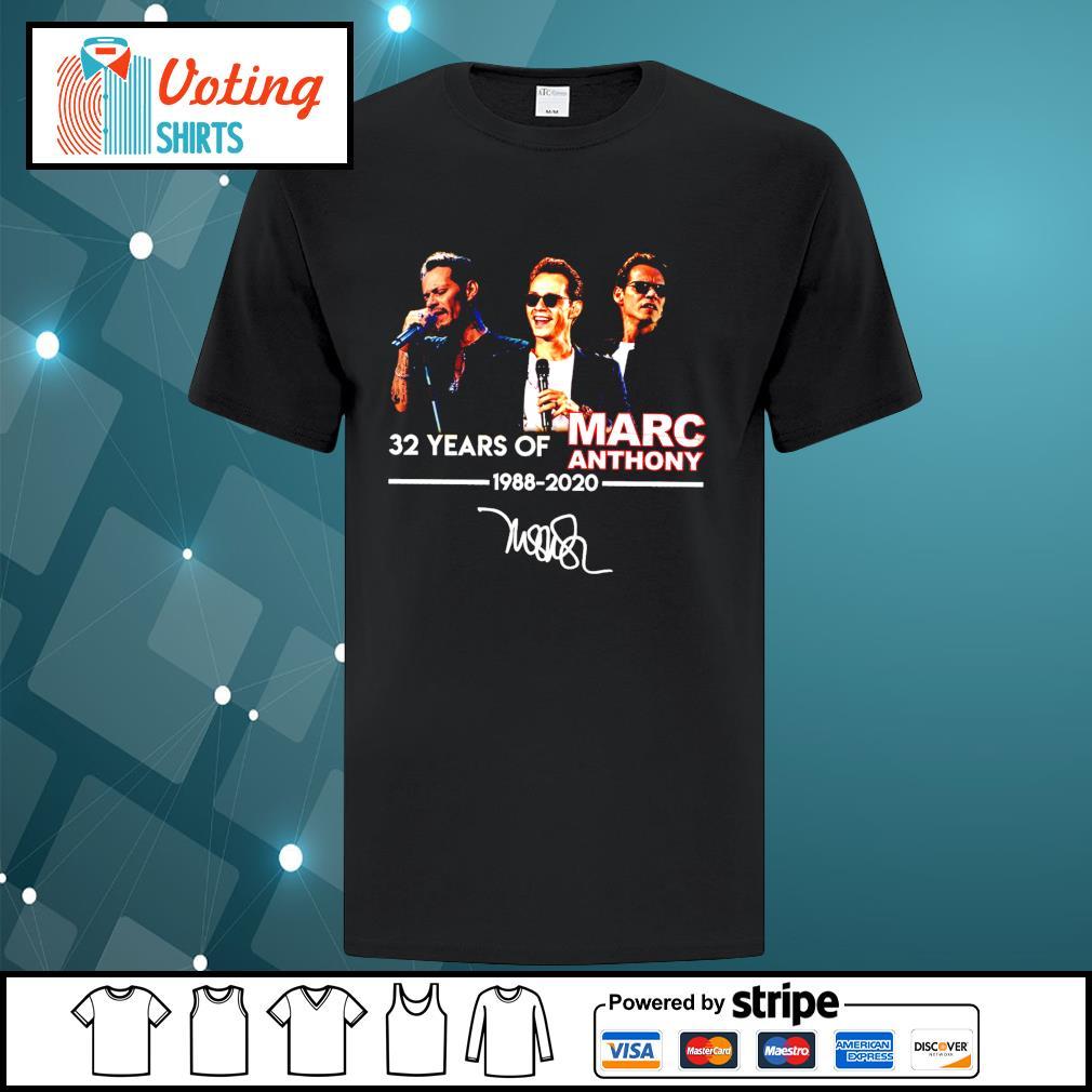 32 years of Marc Anthony 1988 2020 signatures shirt