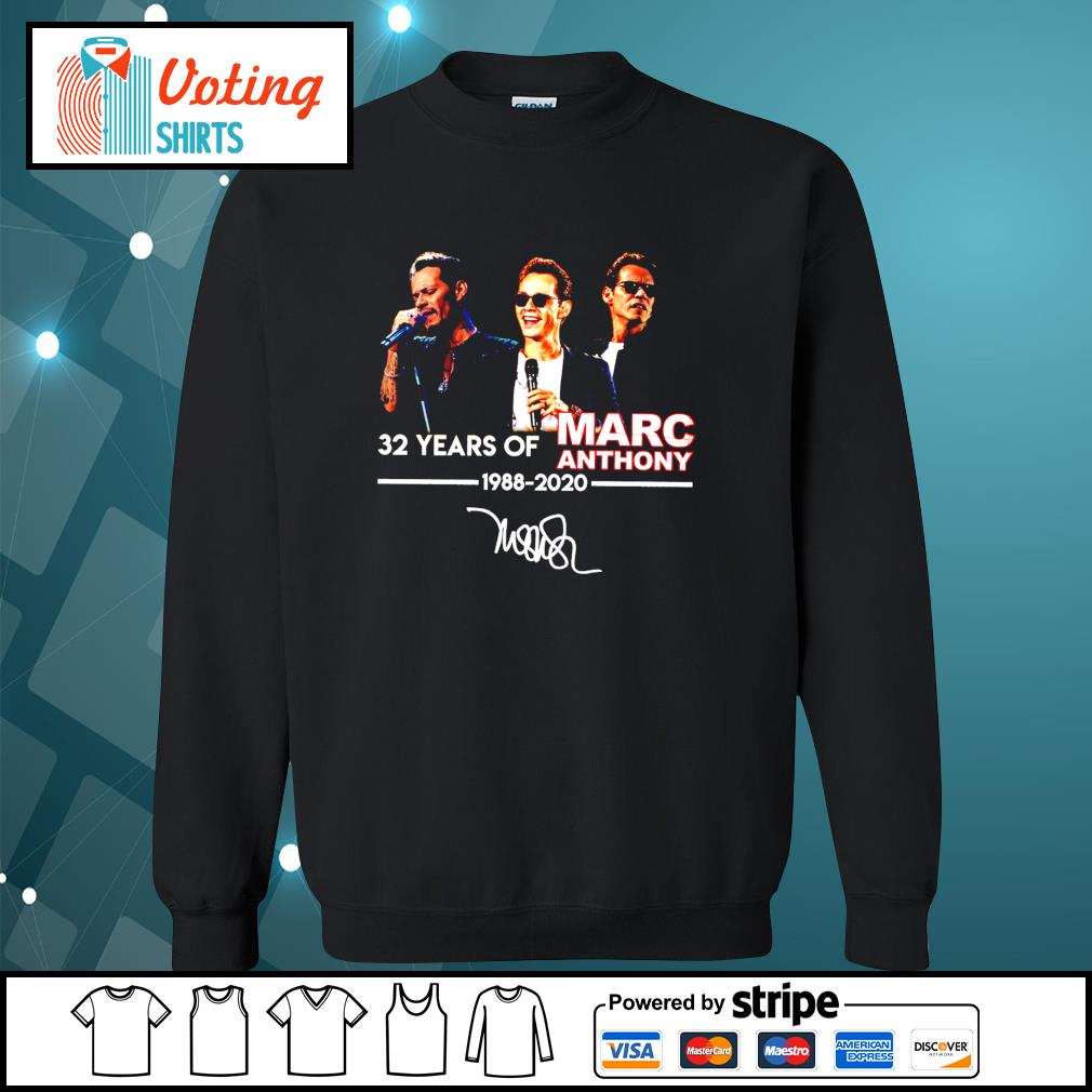 32 years of Marc Anthony 1988 2020 signatures s sweater