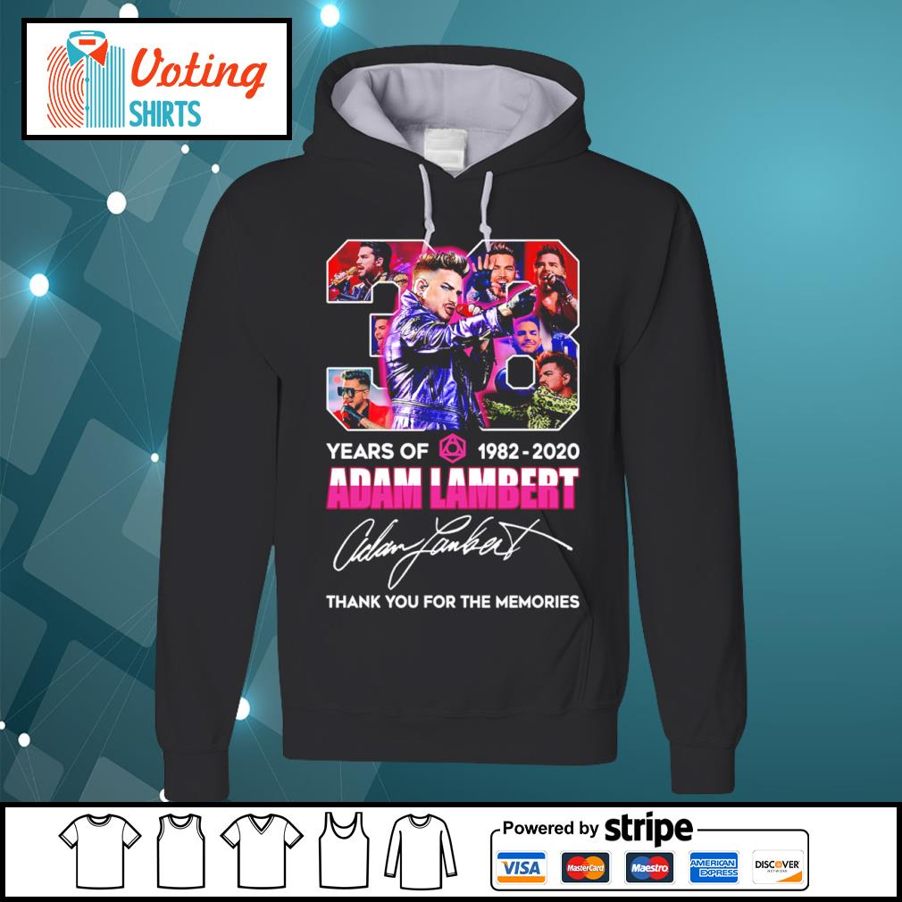 38 years of 1982 2020 Adam Lambert thank you for the memories s hoodie