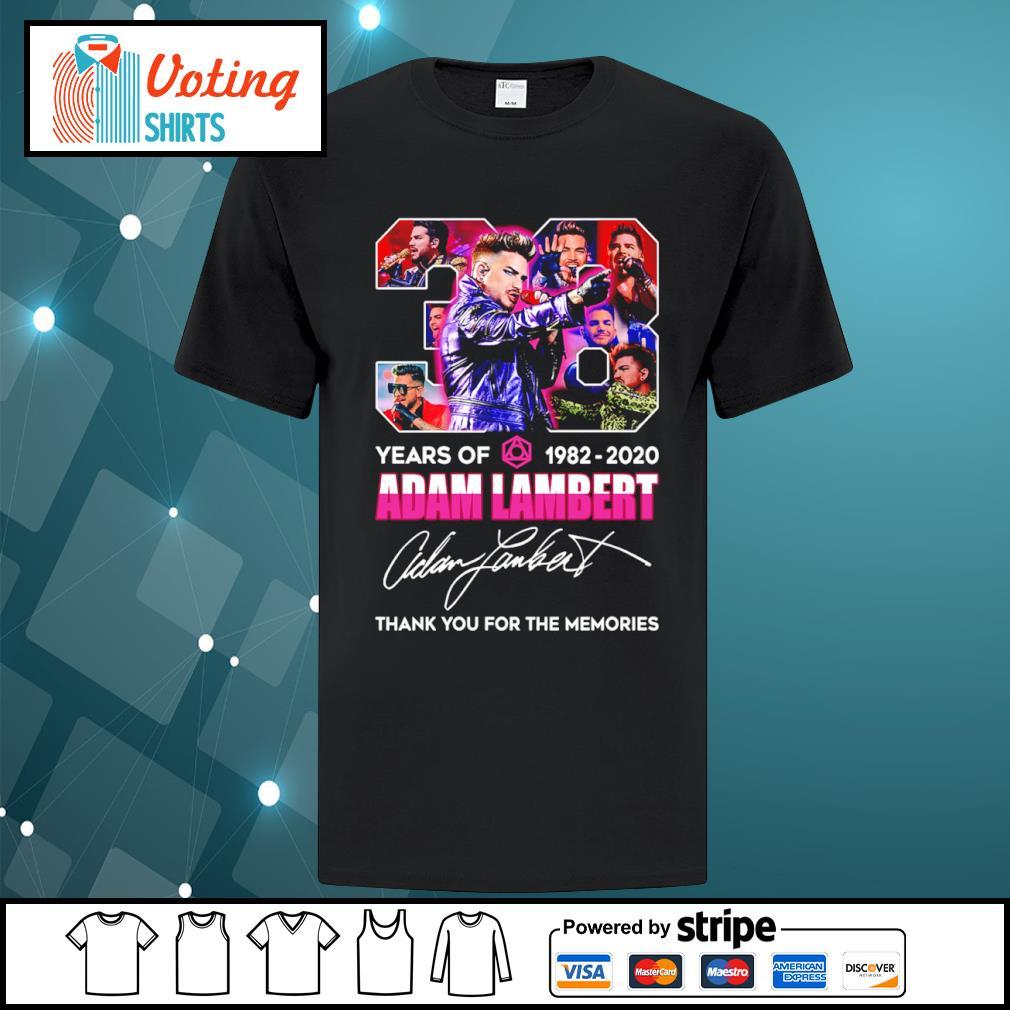 38 years of 1982 2020 Adam Lambert thank you for the memories shirt