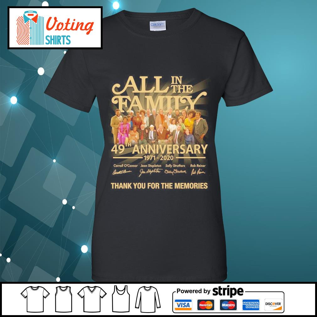 All in the Family 49th anniversary 1971 2020 thank you for the memories s ladies-tee
