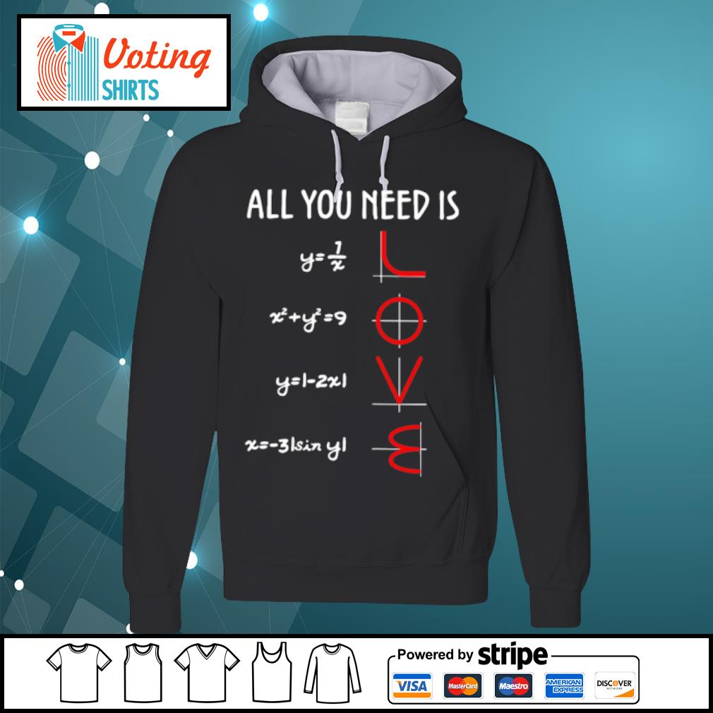 All you need is math love s hoodie