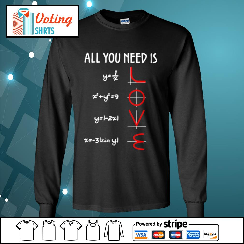 All you need is math love s longsleeve-tee