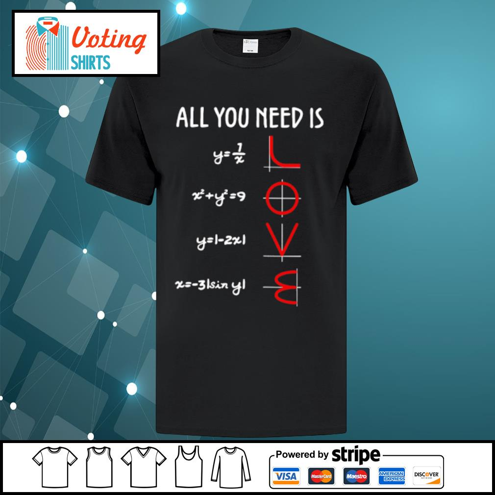 All you need is math love shirt