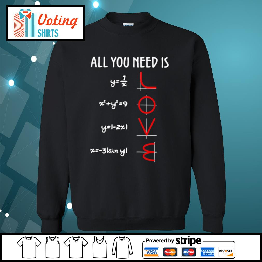 All you need is math love s sweater
