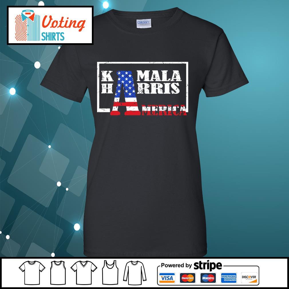 American Flag Kamala Harris America s ladies-tee