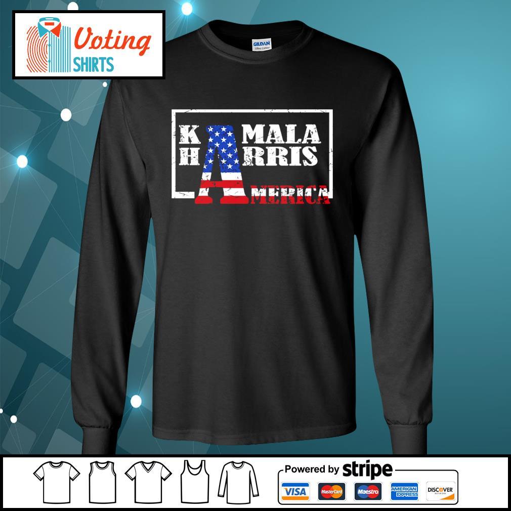 American Flag Kamala Harris America s longsleeve-tee