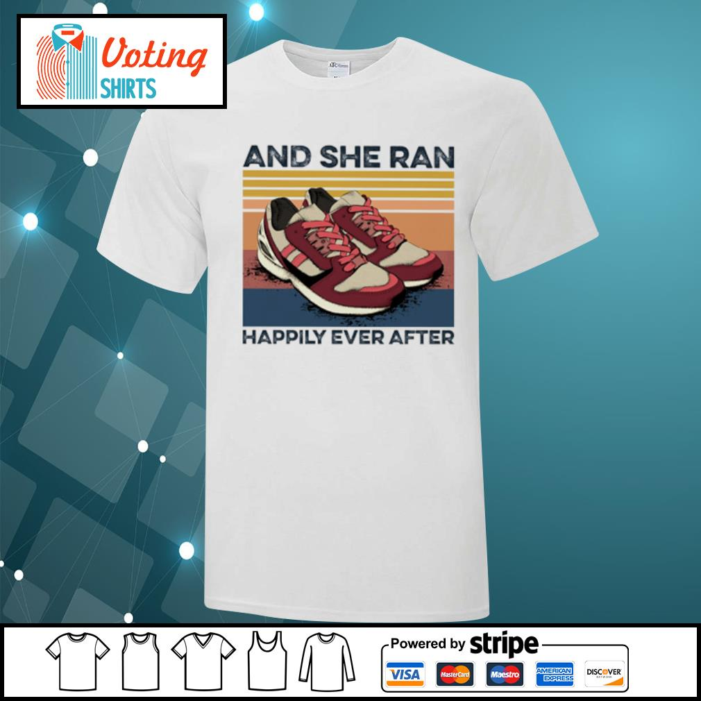 And she ran happily ever after vintage shirt