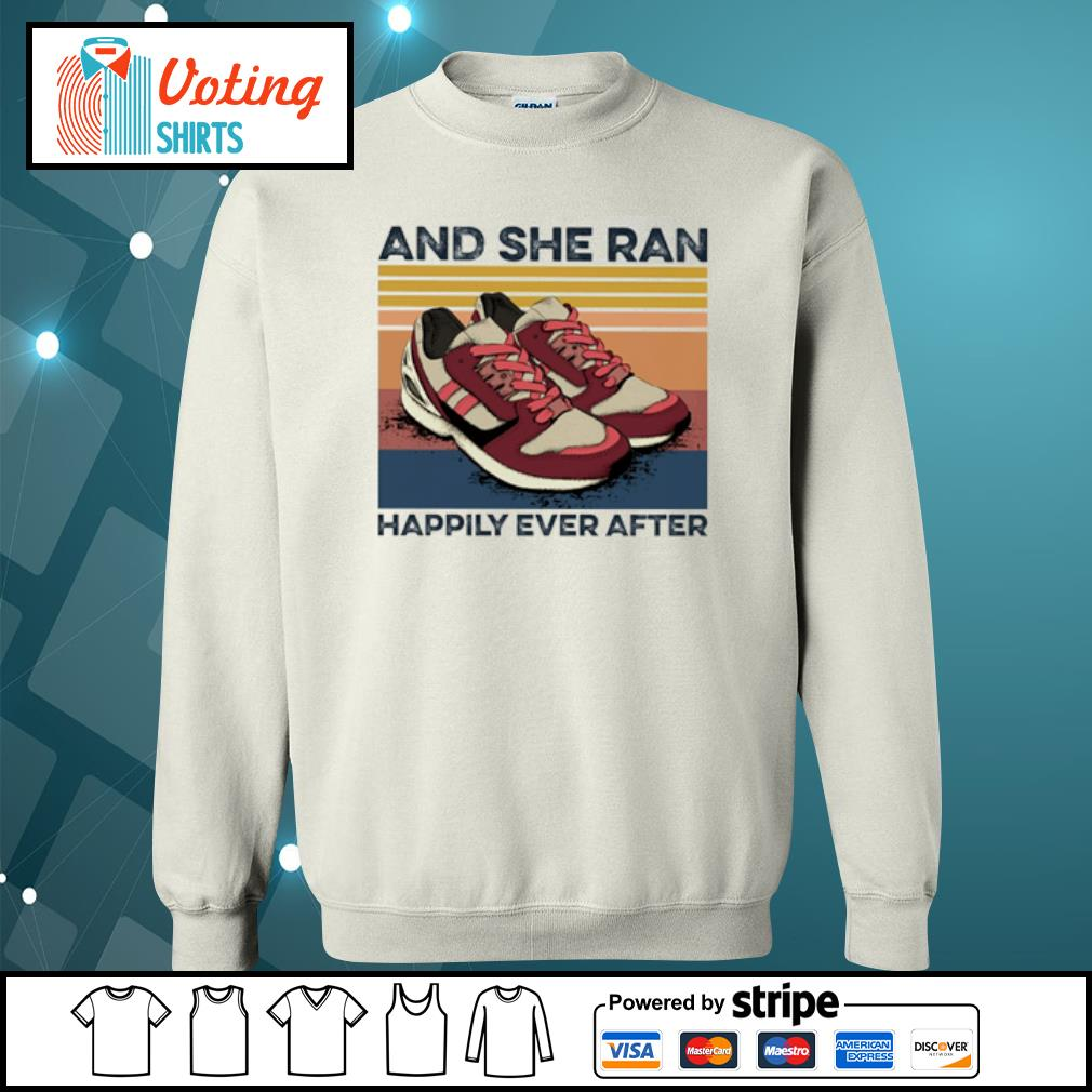 And she ran happily ever after vintage s sweater