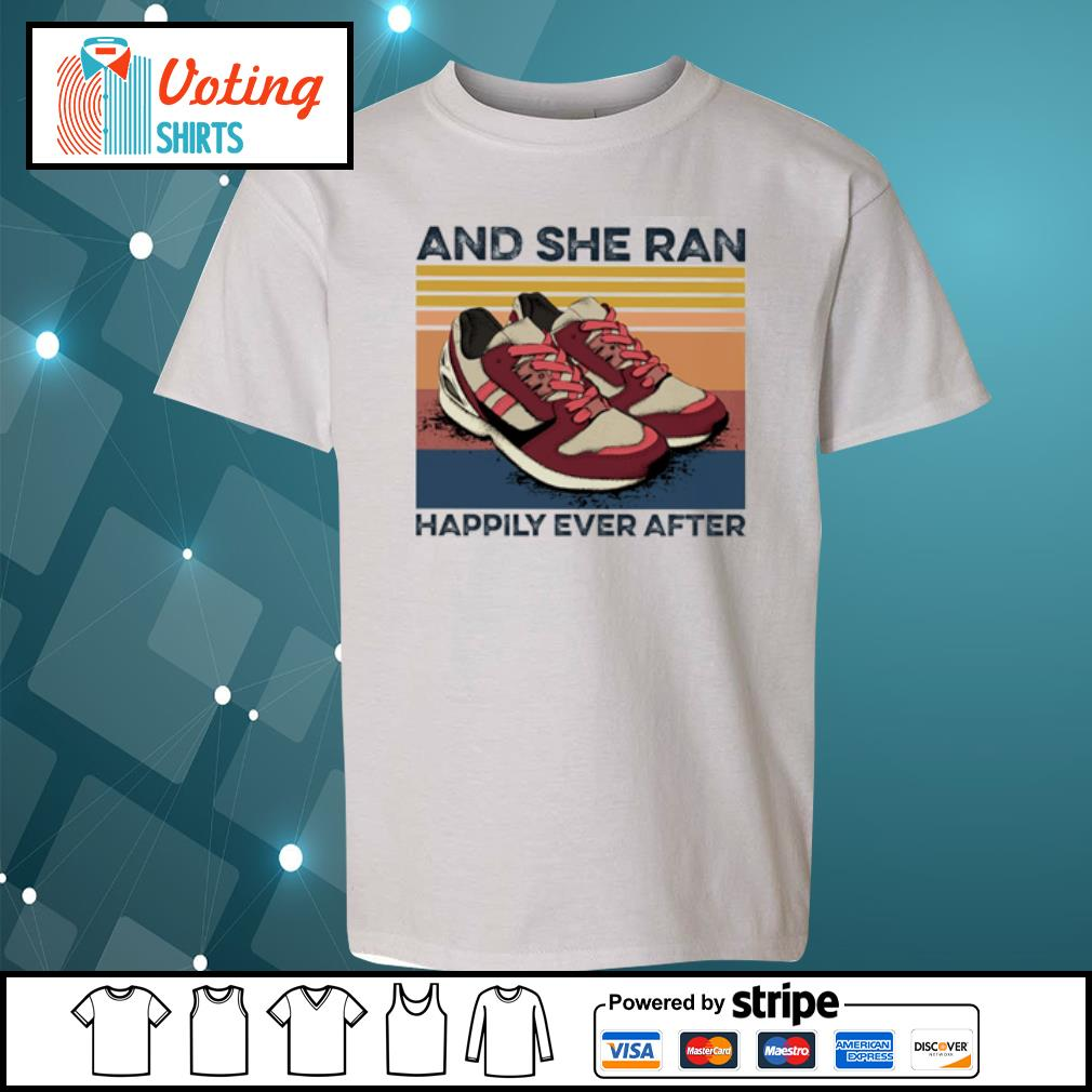 And she ran happily ever after vintage s youth-tee