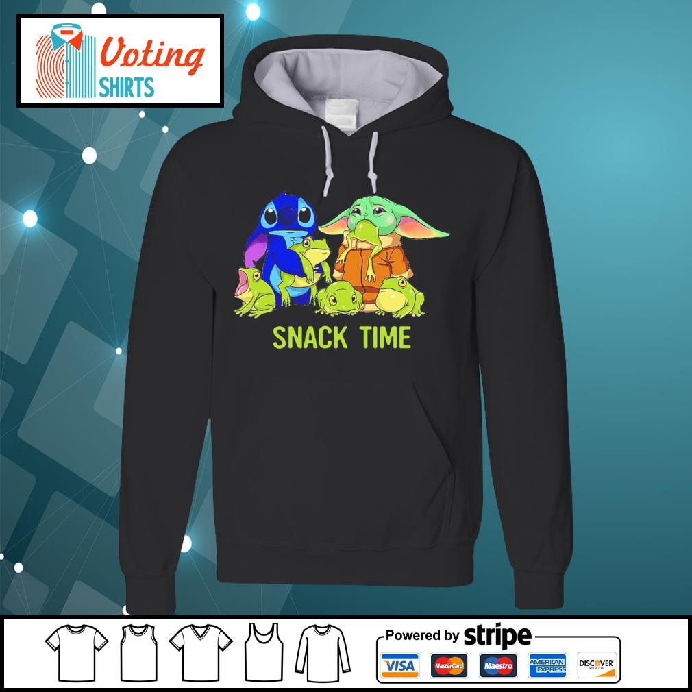 Baby Yoda and Stitch snack time s hoodie