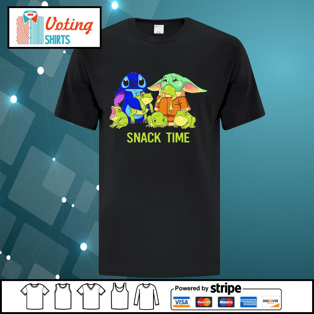 Baby Yoda and Stitch snack time shirt