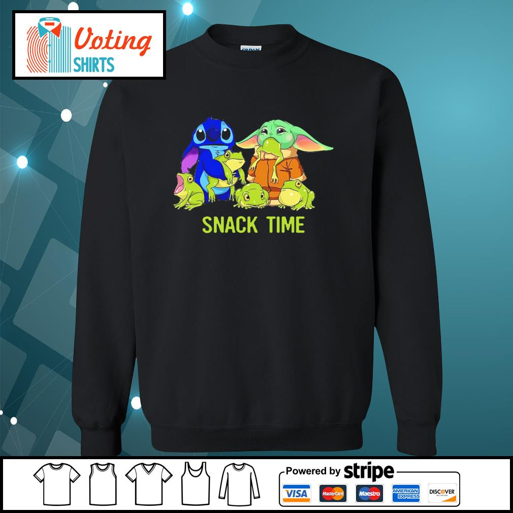 Baby Yoda and Stitch snack time s sweater