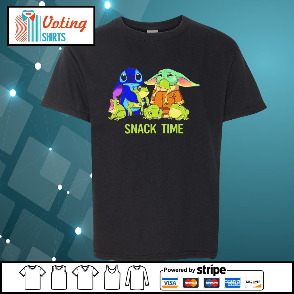 Baby Yoda and Stitch snack time s youth-tee