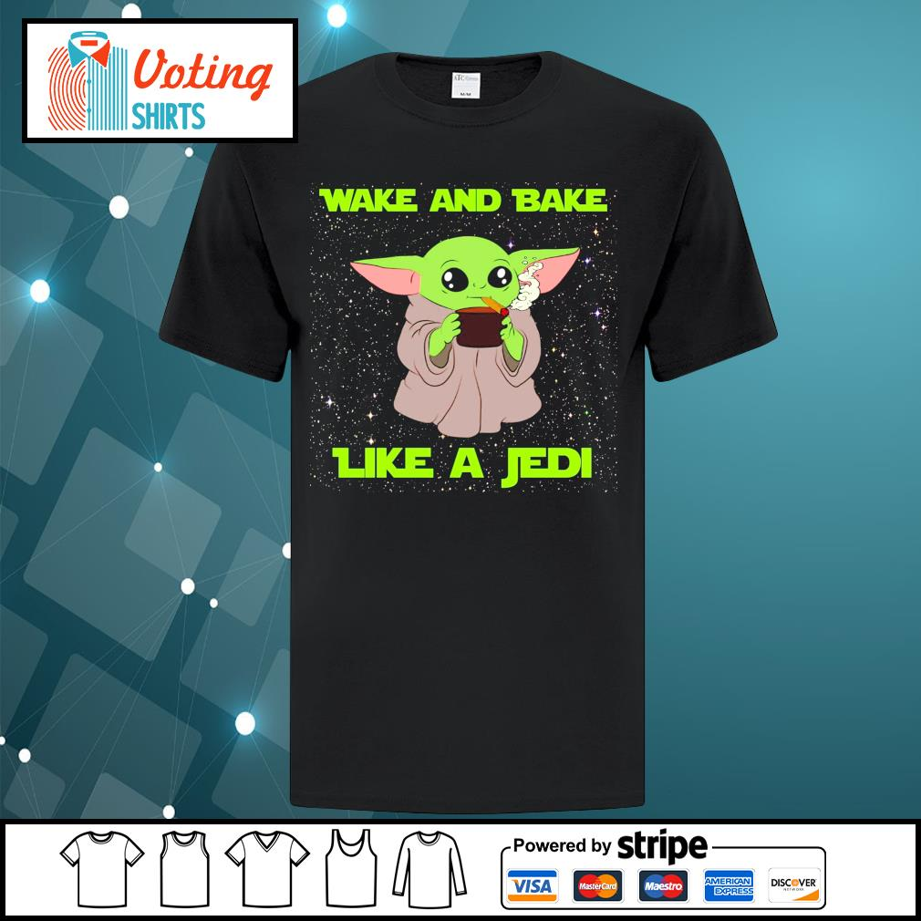 Baby Yoda wake and bake like a Jedi shirt