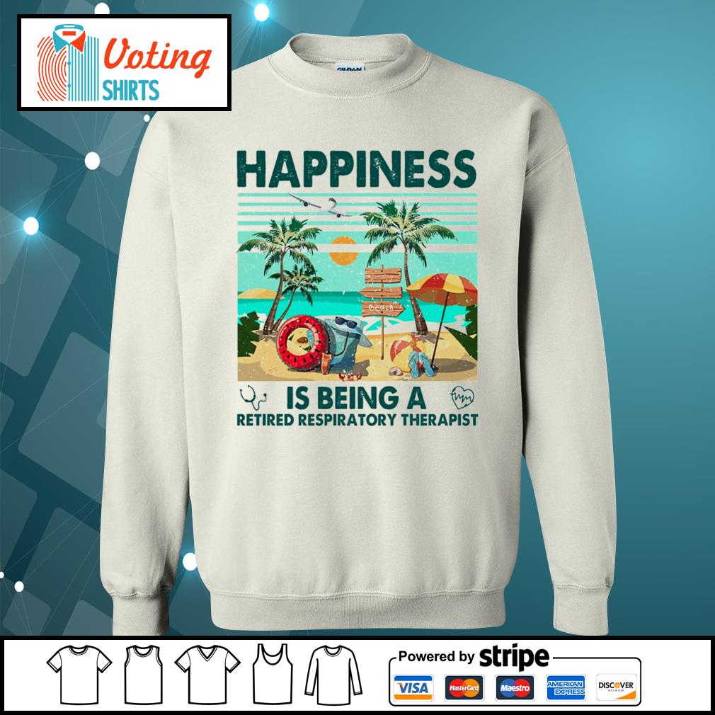 Beach happiness is being a retired respiratory therapist vintage s sweater