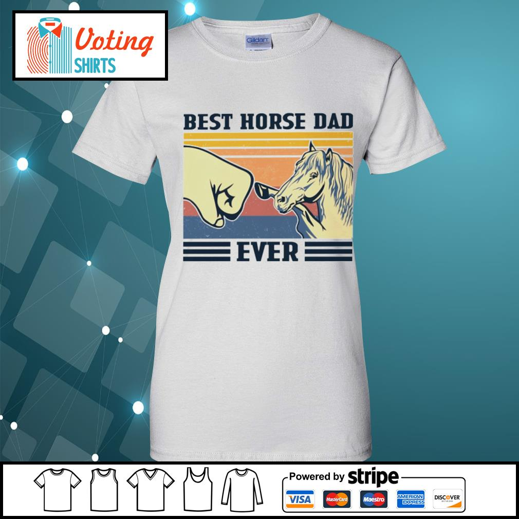 Best horse dad ever vintage s ladies-tee