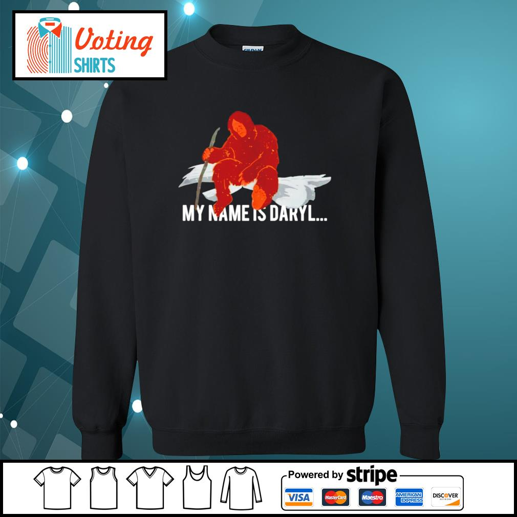 Bigfoot my name is Daryl s sweater