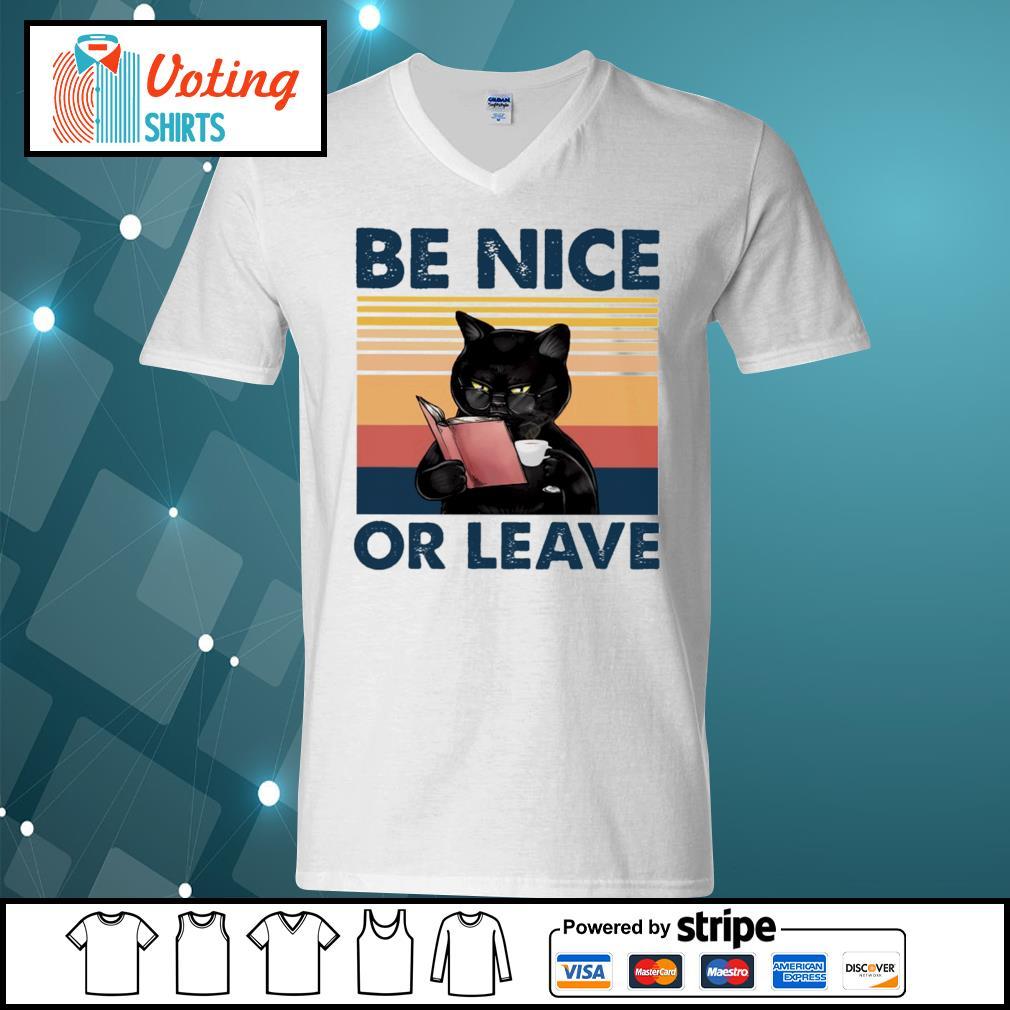 Black cat be nice or leave s v-neck-t-shirt