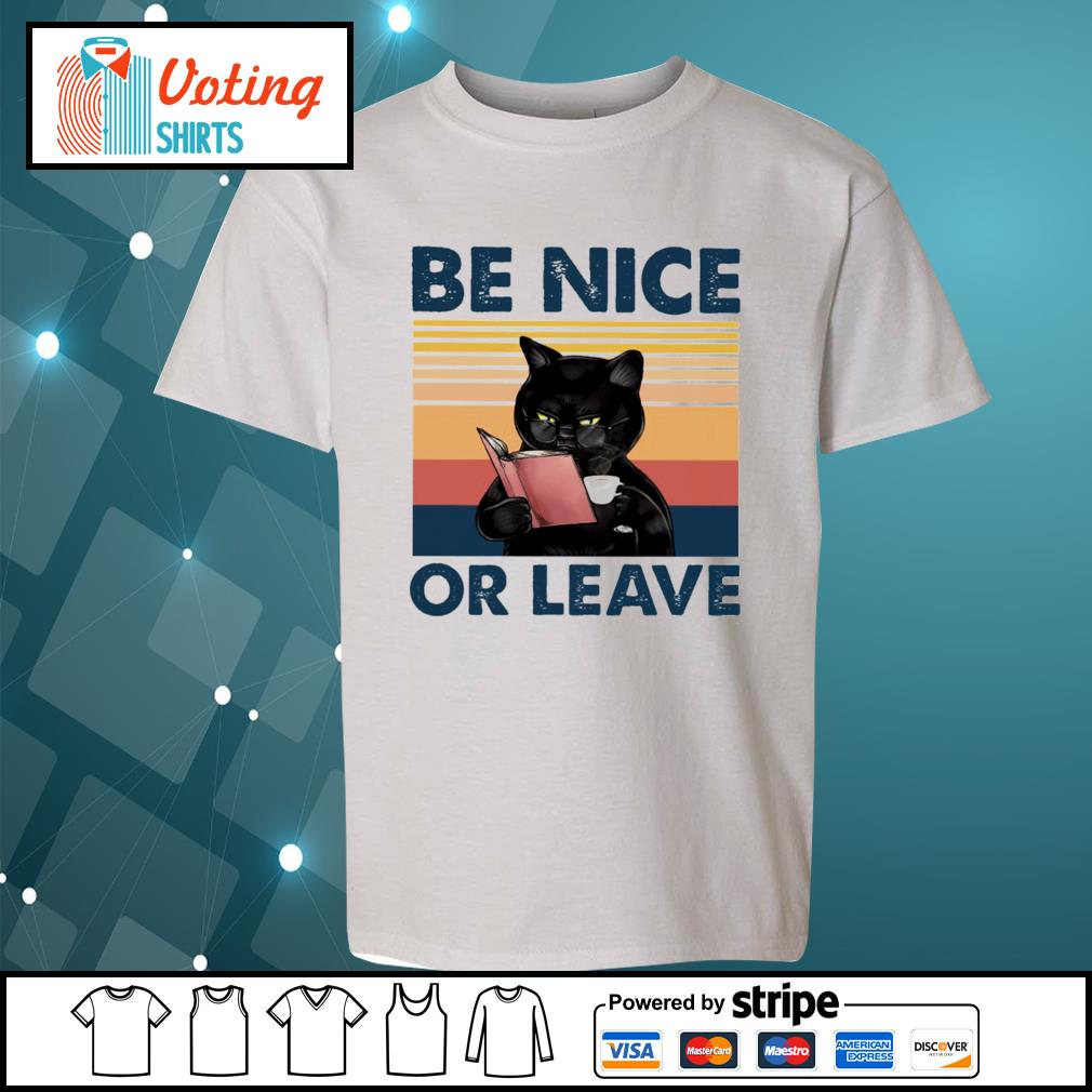 Black cat be nice or leave s youth-tee