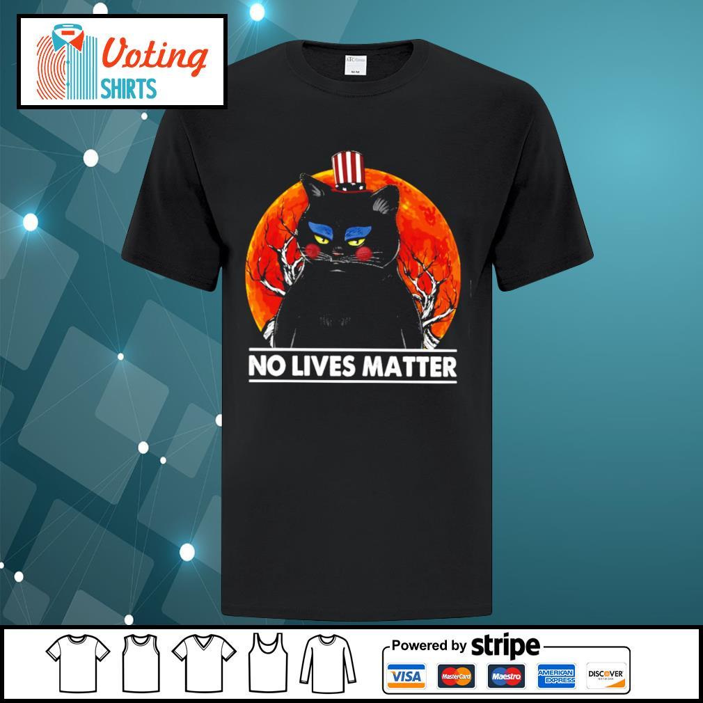 Black cat no lives matter halloween shirt