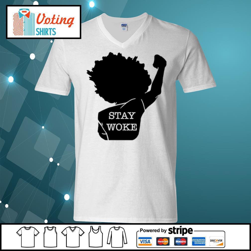 Black girl stay woke s v-neck-t-shirt