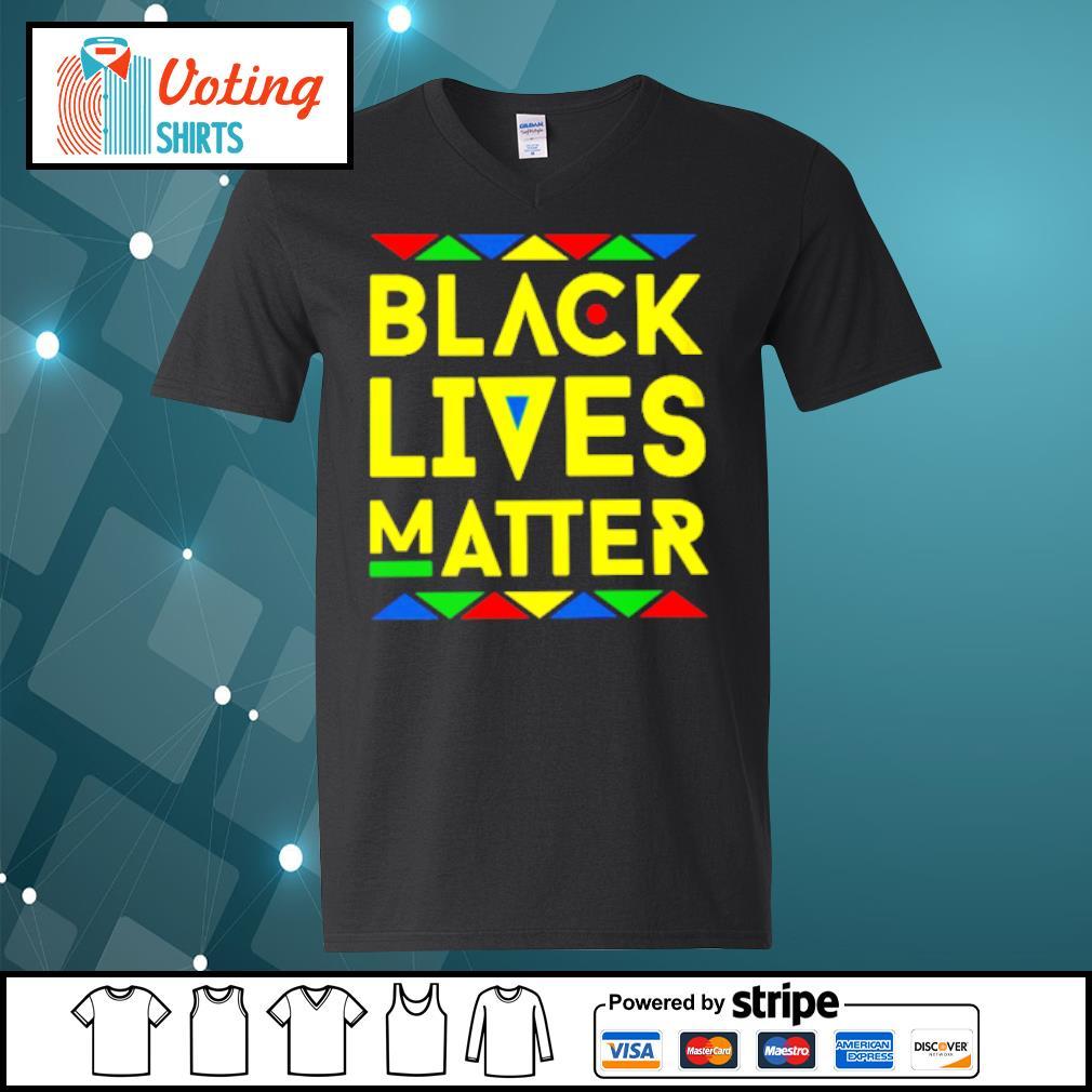 Black lives matter s v-neck-t-shirt