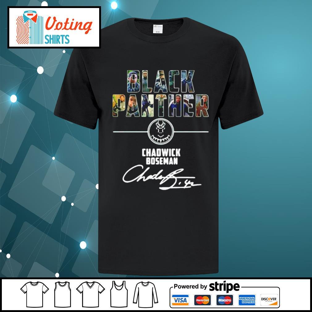 Black Panther Chadwick Boseman signature shirt