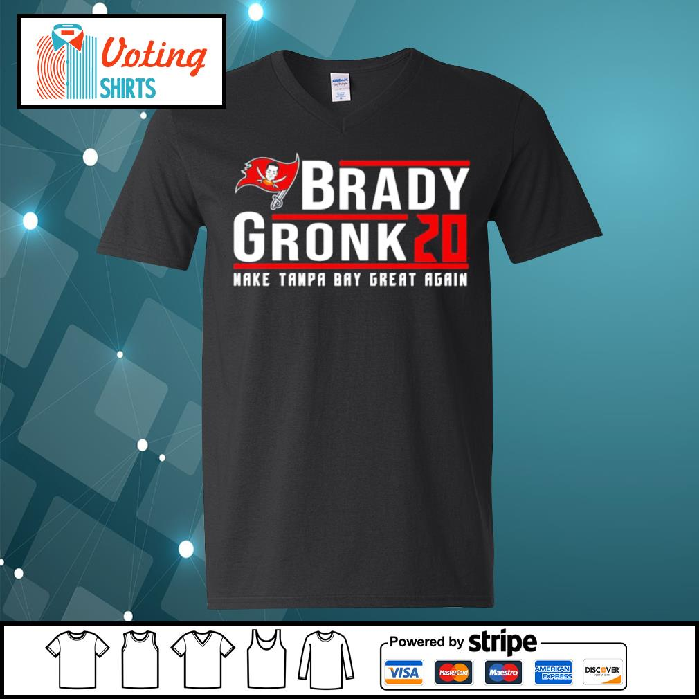 Brady Gronk 2020 make Tampa Bay great again s v-neck-t-shirt