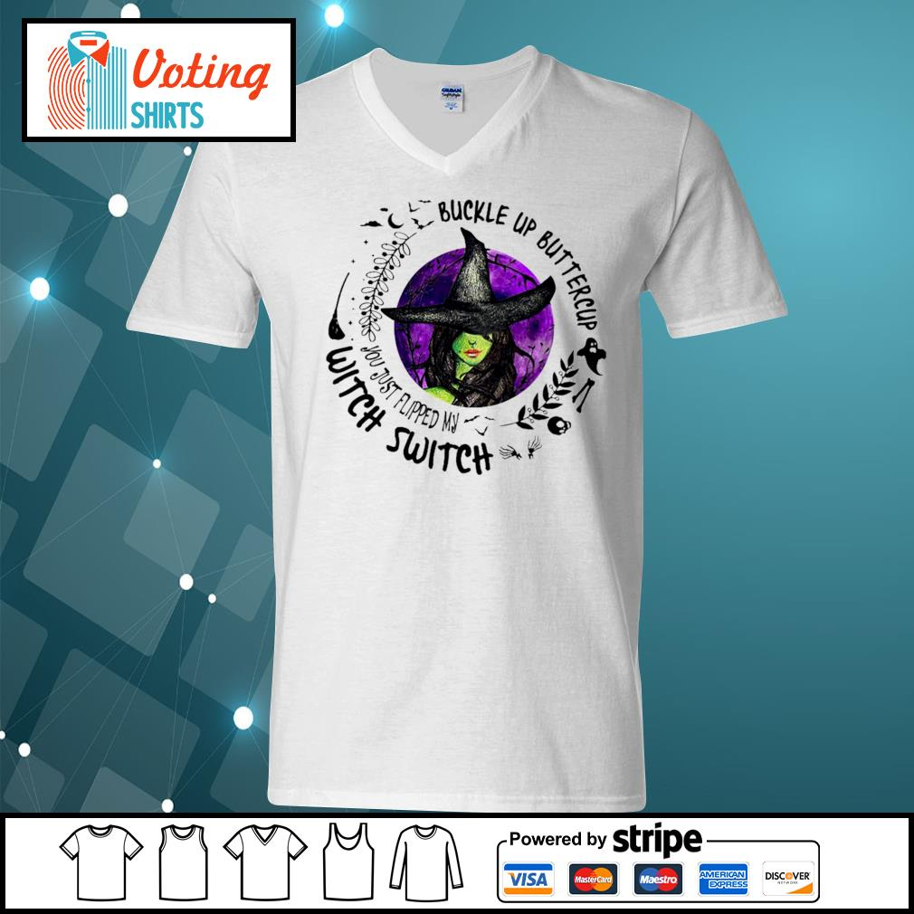 Buckle up buttercup witch switch s v-neck-t-shirt