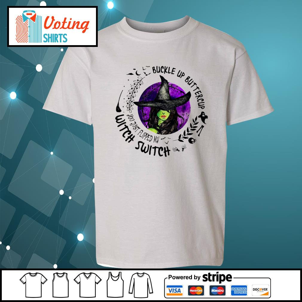 Buckle up buttercup witch switch s youth-tee