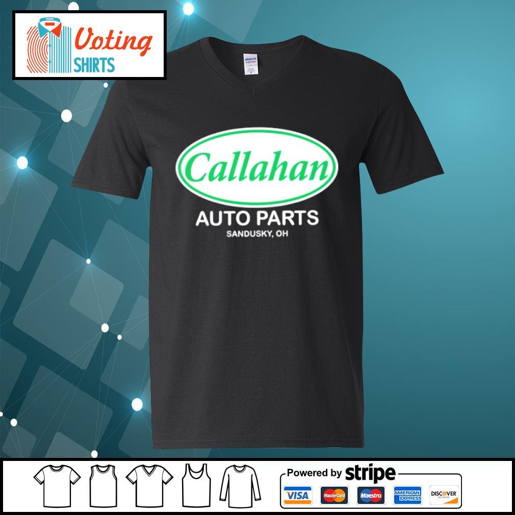Callahan auto parts Sandusky oh s v-neck-t-shirt