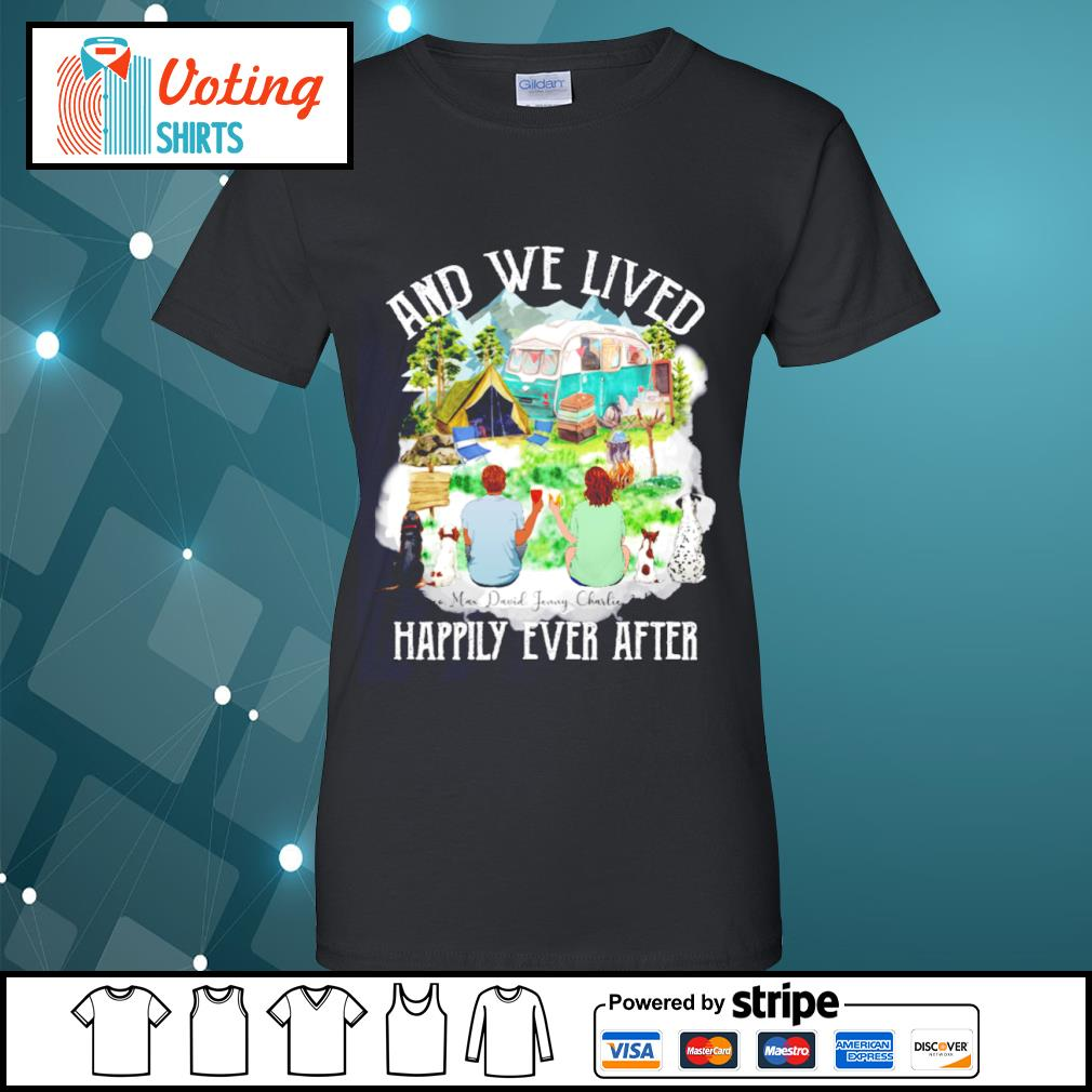 Camping dogs and cat and we lived happily ever after s ladies-tee