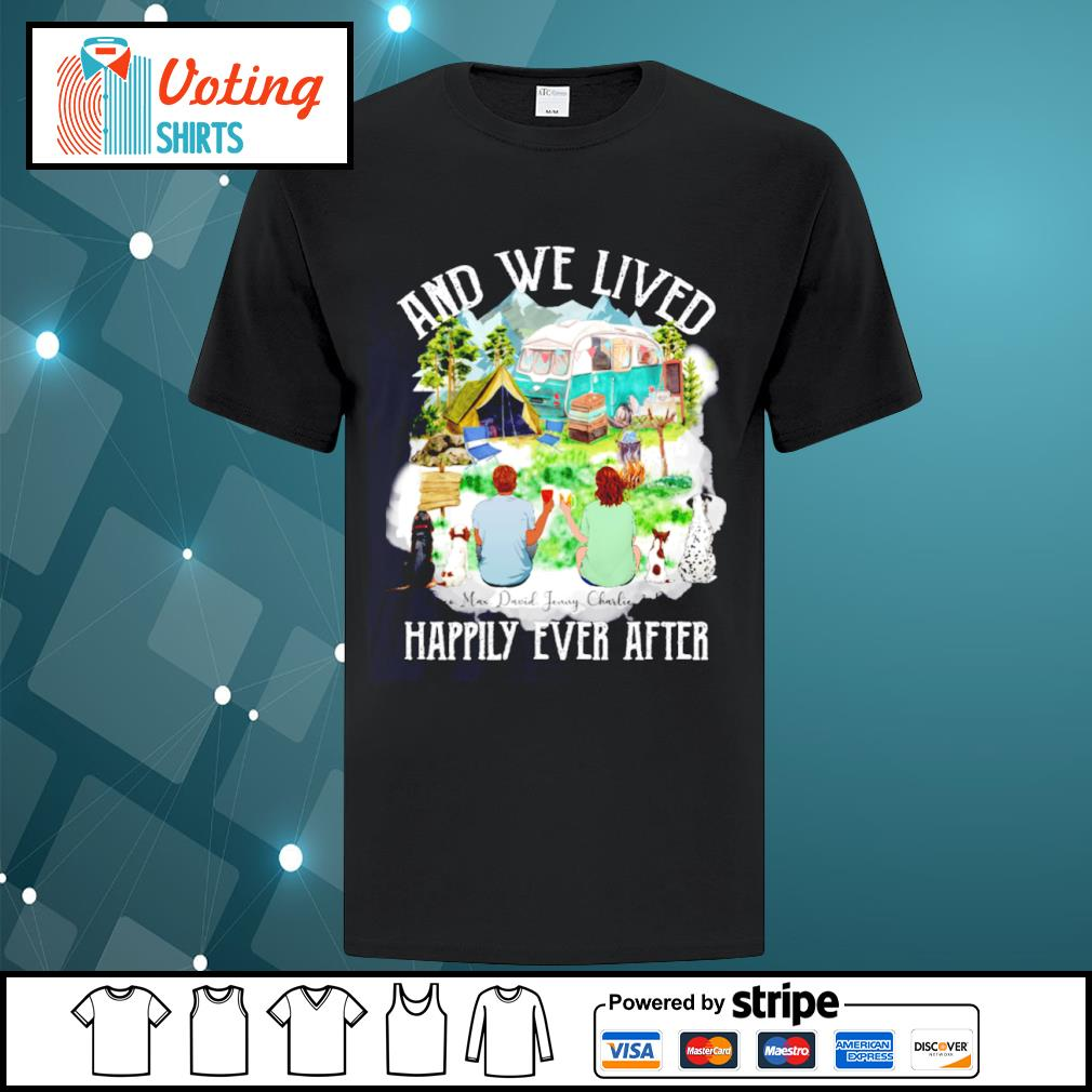 Camping dogs and cat and we lived happily ever after shirt