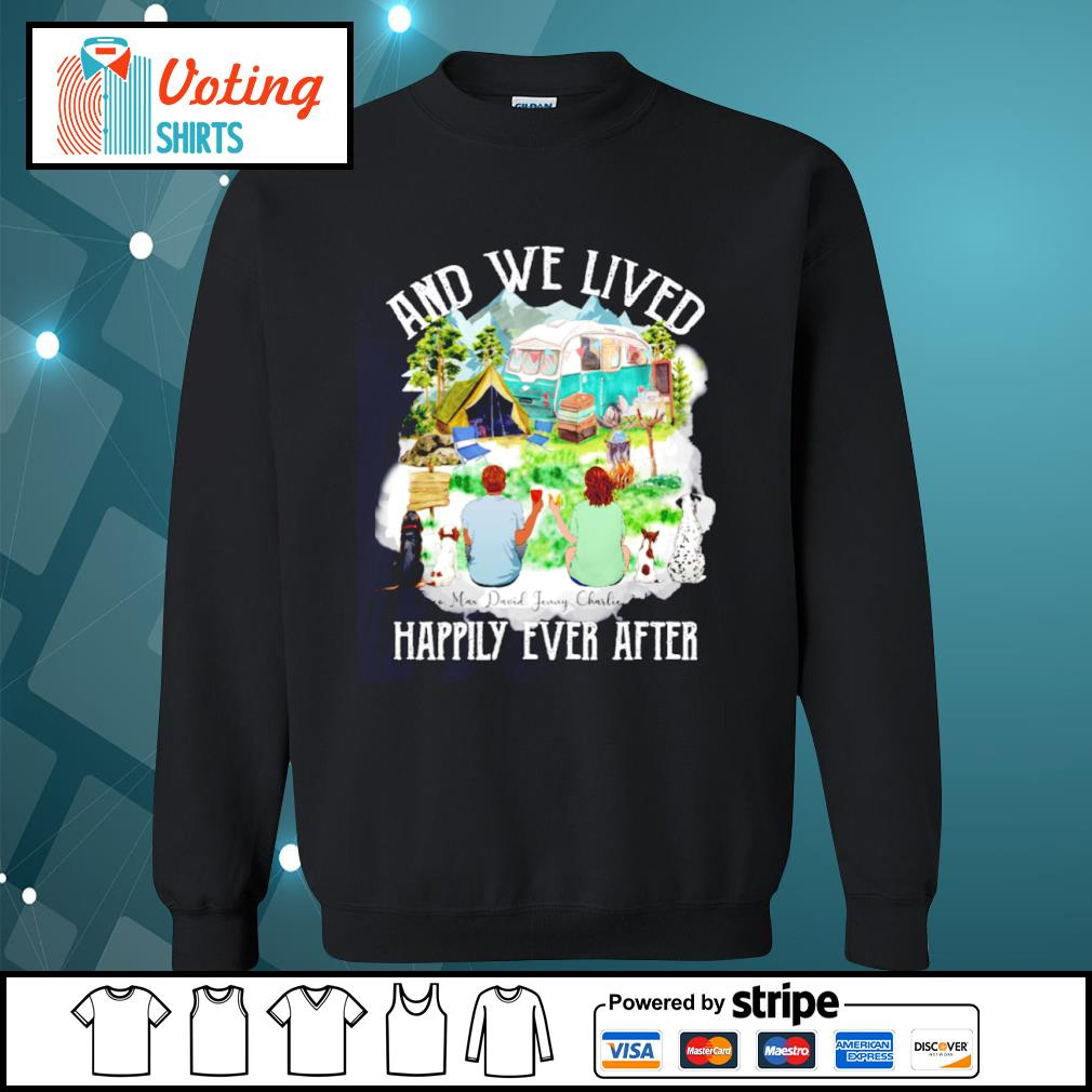 Camping dogs and cat and we lived happily ever after s sweater
