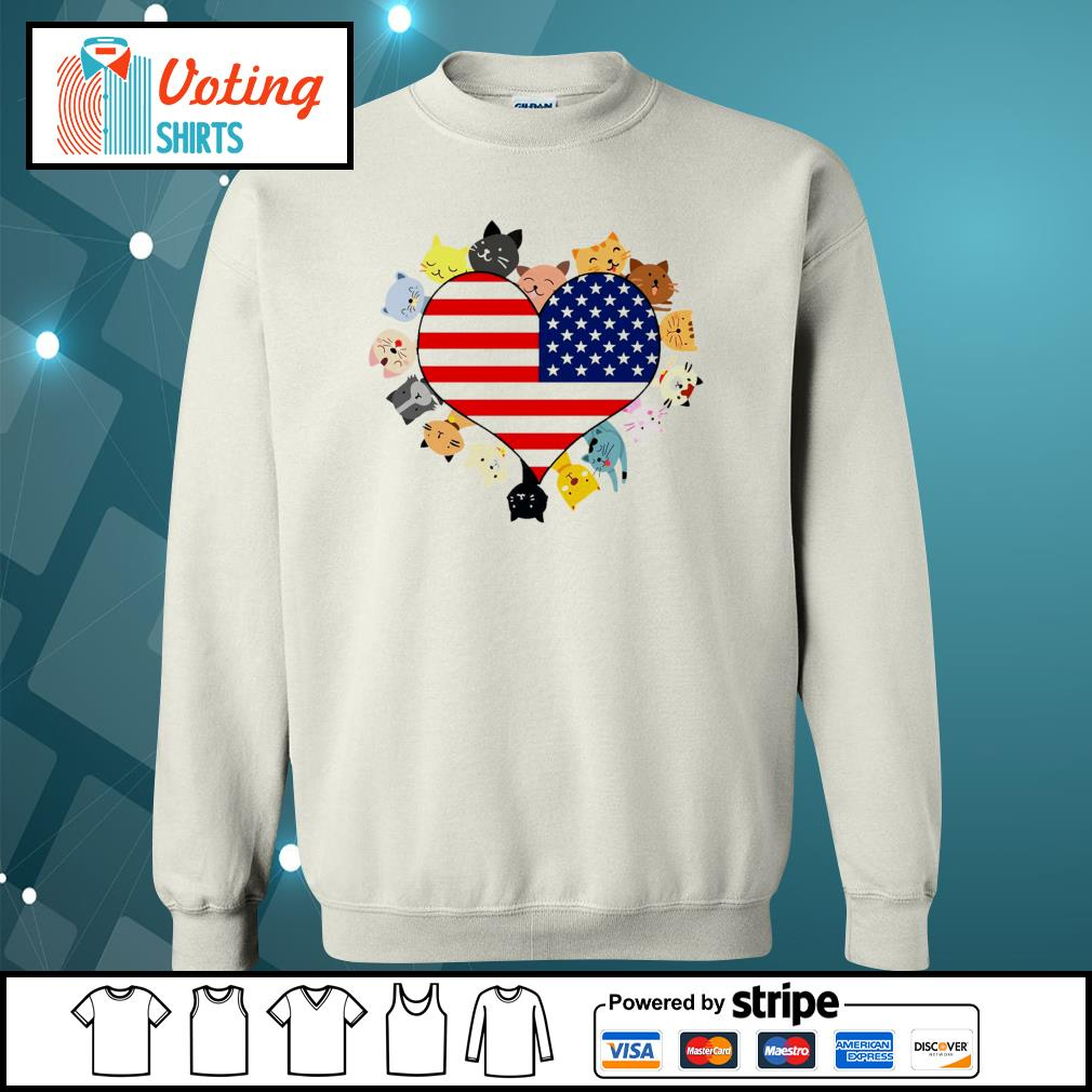 Cat love black live matter american flag s sweater